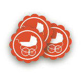 Urban Baby Scalloped Stickers