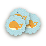 Havin&#039; A Whale Of A Time Scalloped Stickers