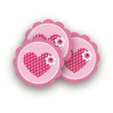 XOXO Scalloped Stickers