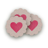 Ombre Love Scalloped Stickers