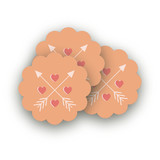 Conversation Heart Valentine Scalloped Stickers