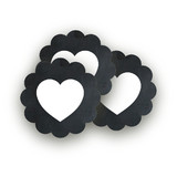 Blackboard Perfection Scalloped Stickers