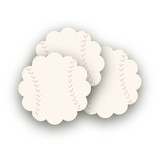 Hey Batter, Batter! Scalloped Stickers