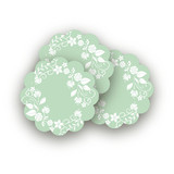 Wooded Blooms Scalloped Stickers