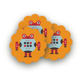 Robot Bleep Bleep Scalloped Stickers