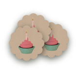 Girlie Cakes Scalloped Stickers