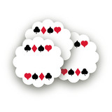 Playing Cards Scalloped Stickers