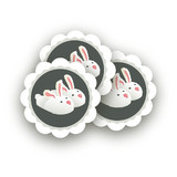 Pajama Scalloped Stickers