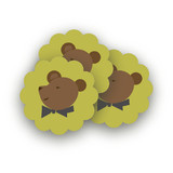 Gentleman Bear Scalloped Stickers