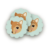Fancy Fawn Scalloped Stickers