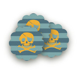 Pirate Party Scalloped Stickers
