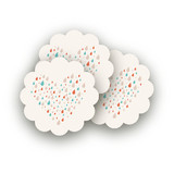 Shower of Love Scalloped Stickers