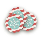 Holiday Stripes Scalloped Stickers