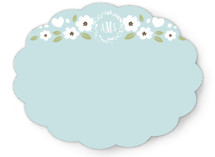 White Flowers Personalized Stationery