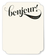 Bonjour! Personalized Stationery