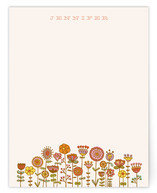 Doodle Flower Garden Personalized Stationery