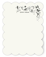 Swirly Bird Note Personalized Stationery