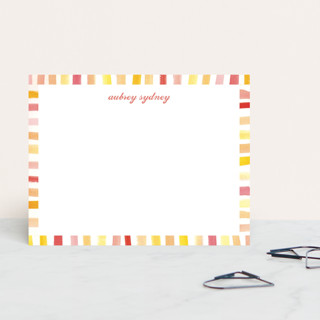 Chic Stripes Personalized Stationery