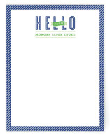 Hello Stripes Personalized Stationery