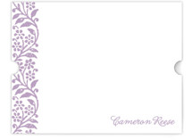 Flower Stamp Personalized Stationery