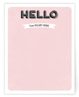 Retro Hello Personalized Stationery