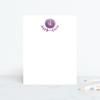 Vine Monogram Personalized Stationery