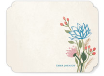 Watercolor Lotus Personalized Stationery