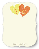 Double Heart Personalized Stationery