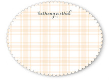 Perfect Plaid Personalized Stationery