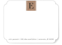Letter Block Personalized Stationery