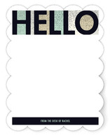 Hello Blocked Personalized Stationery