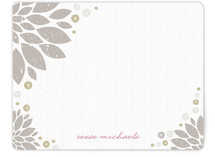 Golden Blooms Personalized Stationery