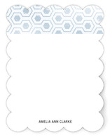 Distressed Hex Personalized Stationery