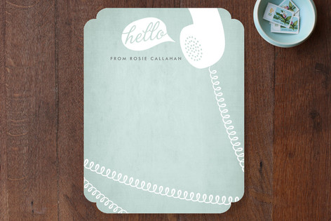 Cordial Hello Personalized Stationery