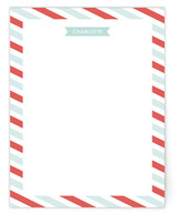 Flags and Stripes Personalized Stationery
