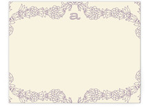 Simple Floral Border Personalized Stationery