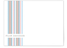 Zip Stripe Personalized Stationery