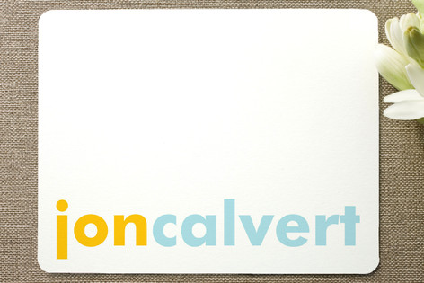 Accent Personalized Stationery