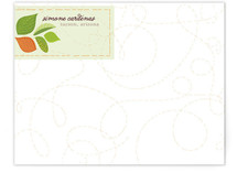 Whirling Leaves Personalized Stationery