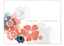 Dry Petals Personalized Stationery