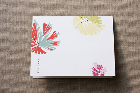 Dry Paint Personalized Stationery