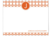 Mod Disc Monogram Personalized Stationery