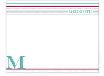 Stripes and Dots Personalized Stationery
