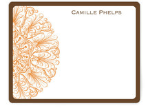 Round Flourish Personalized Stationery
