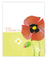 chic poppies Personalized Stationery
