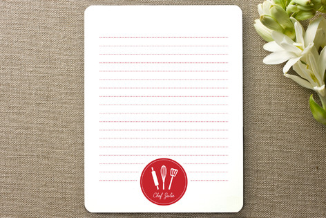 chef s notes personalized stationery by design lot minted