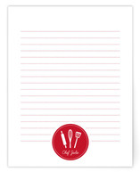 chef's notes Personalized Stationery