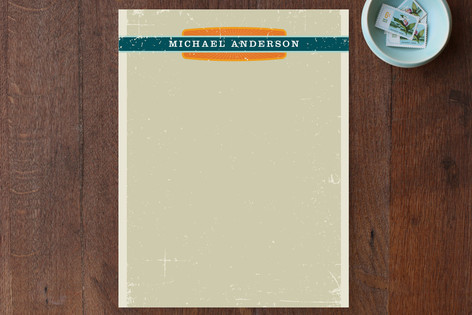Grunge Label Personalized Stationery