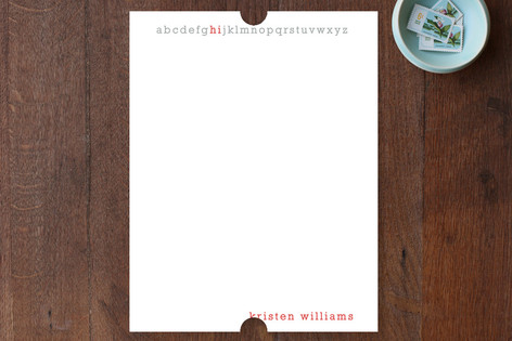 Little Letters Personalized Stationery