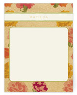Matilda Kraft Personalized Stationery